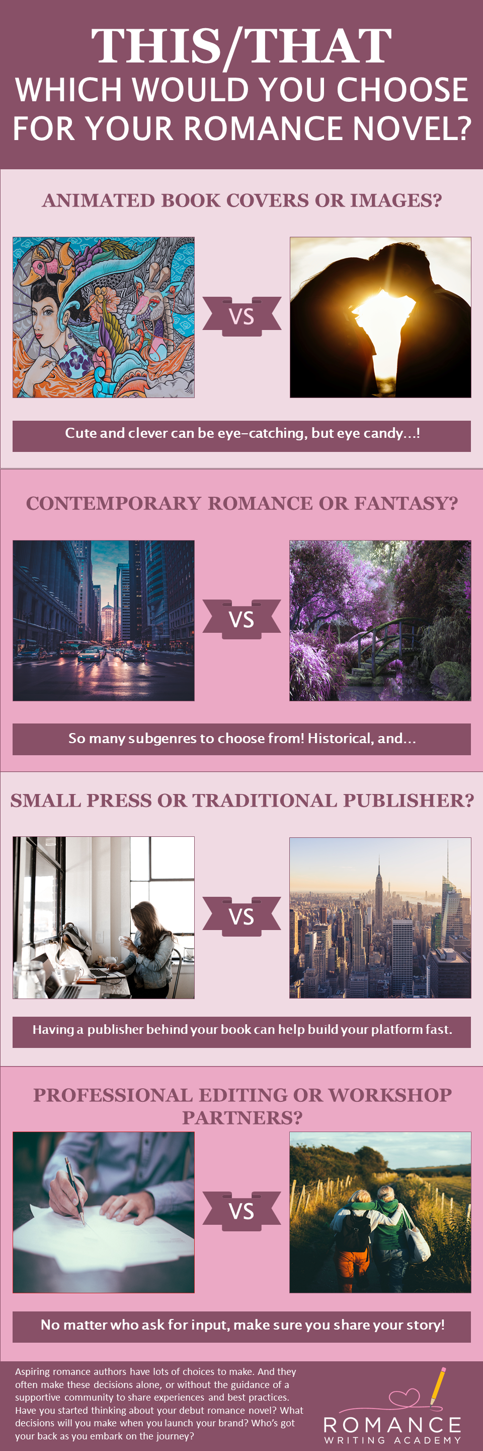This or That? Which Would You Choose For Your Romance Novel [Infographic]